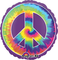 Feeling Groovy Peace Jumbo Foil Balloon