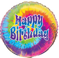 Happy Birthday Tie Dye Foil Balloon