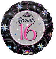 Sweet 16 Sparkle Prismatic Foil Balloon