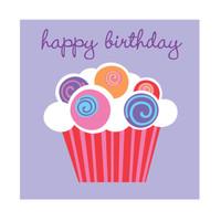Sweet Cupcake Party Beverage Napkins (16)