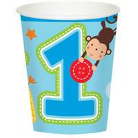 Fun at One Boy 9oz. Cups (8)