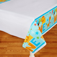 Fun at One Boy Plastic Tablecover