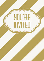Golden Birthday Invitations (8)