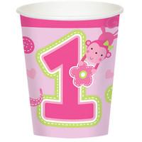 Fun at One Girl 9oz. Cups (8)