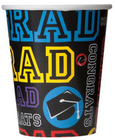 Grad Party 9 oz. Paper Cups (8)