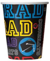 Grad Party 9 oz. Paper Cups (8)