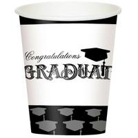Graduation 9oz. Paper Cups (8)