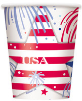 Patriotic Party 9 oz. Paper Cups (8)