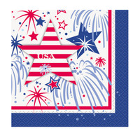 Patriotic Party Beverage Napkins (16)