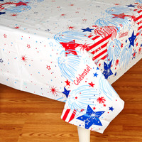 Patriotic Party Plastic Tablecover