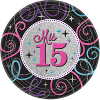 Mis Quince Anos Dinner Plates (8)