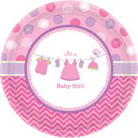 Baby Shower Girl Shower With Love Dinner Plates (8)