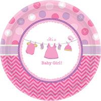 Baby Shower Girl Shower With Love Dinner Plates (8)