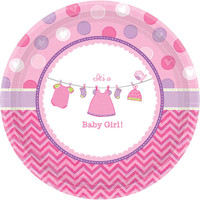 Baby Shower Girl Shower With Love Dessert Plates (8)