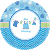 Baby Shower Boy Shower With Love Dessert Plates (8)