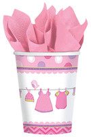 Baby Shower Girl Shower With Love 9oz. Cups (8)