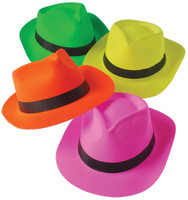 Neon Fedora Assorted (12)