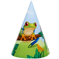 Jungle Party Cone Hats (8)