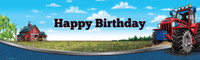 Farm Tractor Birthday Banner