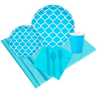 Quatrefoil Bermuda Blue Event Pack