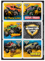 Monster jam Sticker Sheets
