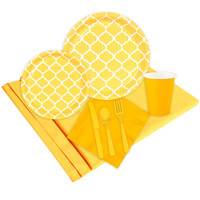 Quatrefoil School Bus Yellow Event Pack