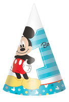 Disney Mickey Mouse 1st Birthday  Cone Hats (8)