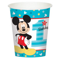 Disney Mickey Mouse 1st Birthday 9oz Paper Cups (8)
