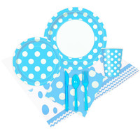 Pastel Blue and White Dots Event Pack