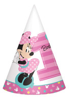 Disney Minnie Mouse 1st Birthday Cone Hats (8)