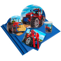 Farm Tractor Party Pack for 24