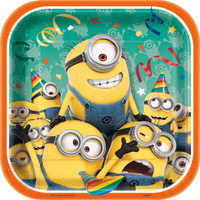 Minions Despicable Me - Squared Dessert Plates (Pack of 8)
