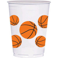 Basketball 14 oz. Plastic Cups