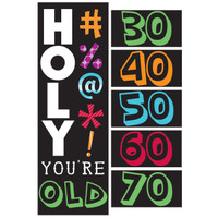 Holy Bleep Giant Party Banner with Stickers