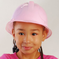 Pink Plastic Construction Hat (child)