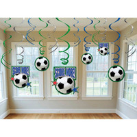 Soccer Hanging Swirl Decorations