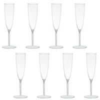 Clear Premium Plastic Champagne Flutes Box Set