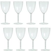 Clear Premium Plastic Wine Goblets Box Set