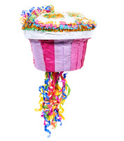 "Pink Cupcake 13"" Pull-String Pinata 2"