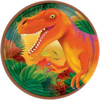 Prehistoric Party Prismatic Dessert Plates (8 count)