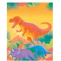 Prehistoric Party Plastic Tablecover