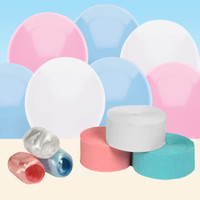Light Blue, White and Pink Decorating Kit