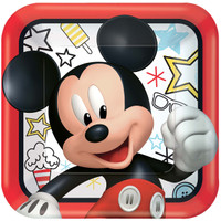 """Mickey On The Go 9"""" Lunch Plates (8)"""