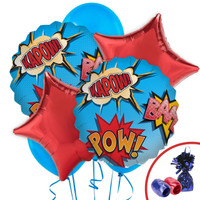 Superhero Comics Balloon Bouquet