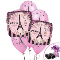 Paris Party Jumbo Balloon Bouquet