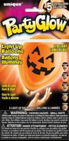 Pumpkin Face Light Up Balloons