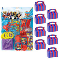 DC Super Hero Girls Filled Favor Box Kit  (For 8 Guests)