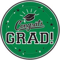 Graduation 7 Dessert Plate Green (18 Count)
