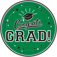 Graduation 10 Dinner Plate Green (18 Count)