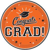 Graduation 10 Dinner Plate Orange (18 Count)